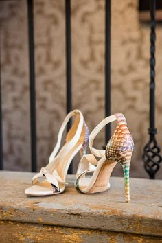 These Alexandre Birman high heeled sandals are the perfect bridal shoes.