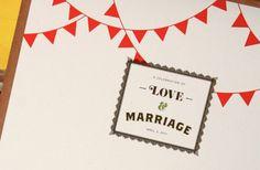 Stimmungsvolle Hochzeitseinladung für eine Kirmes-Mottohochzeit