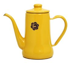 Tsuki-Usagi Enamel Coffee Pot (Yellow) #coffee #pot #yellow