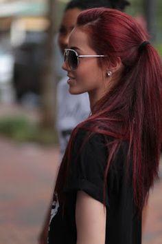 La moda en tu cabello: Cabello rojo Borgoña - 2015