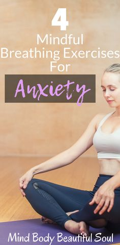 4 Mindful Breathing Exercises For Anxiety. The first thing I do when I wake up is a breathing exercise to start my day off on the right foot. I always preach about how I used to have the worst anxiety attacks, and never really knew how to deal with it at Anxiety Relief, Stress Relief, Atem Meditation, Mindfulness Meditation, Different Types Of Yoga, Deep Breathing Exercises, Fighting Depression, Mindfulness