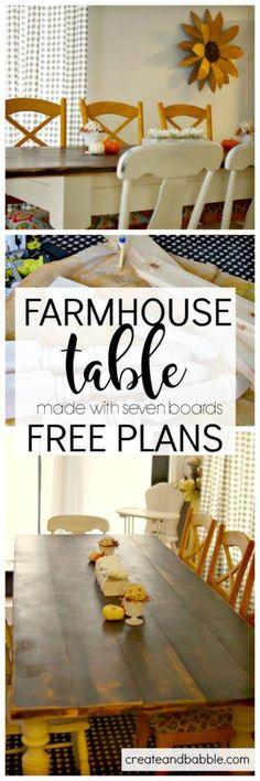 Build a Custom Farmhouse Table