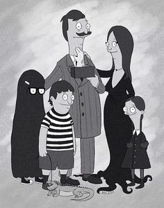 Bob's burgers Halloween Addams Family