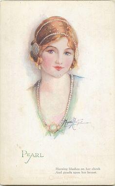 Jewel Girls Set - Marjorie Mostyn. First Used: 1921. Title: Pearl