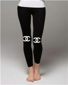 Chanel+logo+on+Bella++Ladies'+Jersey+Leggings+by+fandangotees,+$25.00