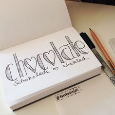Chocolade is bae Doodle Lettering, Hand Lettering Quotes, Creative Lettering, Brush Lettering, Typography, Self Care Bullet Journal, Doodle Quotes, Drawing Quotes, Calligraphy Letters