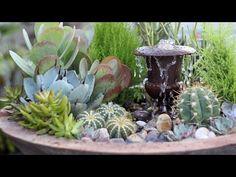 Succulent Fountain Arrangement - Triple Urn Challenge November - YouTube