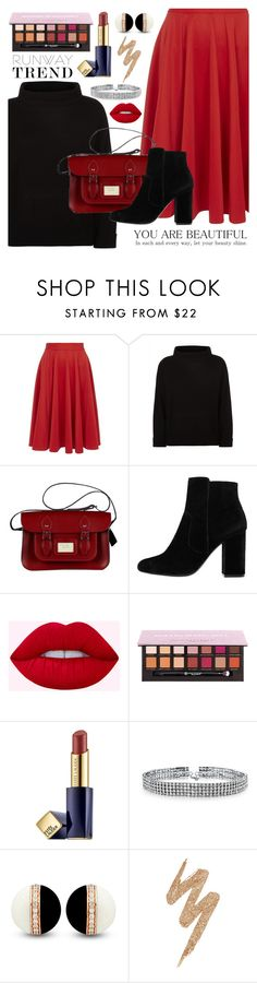 """""""Holiday"""" by mirmir-825 ❤ liked on Polyvore featuring Closet, Jaeger, MANGO, Estée Lauder, Bling Jewelry, Urban Decay, Boots, Sweater and midiskirt"""