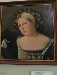"Portrait of a Woman with ""l'Acconciatura detta 'il Balzo'""    By Bernardino Licinio (1490 - 1565)  Venice"