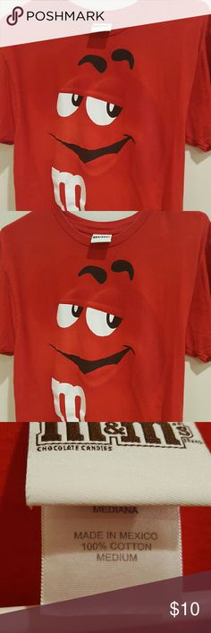 M&M T Shirt. M&M T Shirt. Red. 100% cotton. Excellent condition. M&M Tops Tees - Short Sleeve