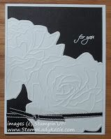 StampLadyKatie.com: Tri-Fold Card from an Embossing Folder