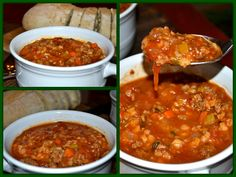 Hamburger Soup . Ground beef, onions, carrots, celery, barley, and tomatoes make a hearty soup.