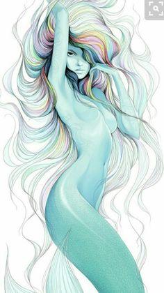 Tattoo artist finger moustache drawing mermaid png image from fantasy merma Fantasy Kunst, Fantasy Art, Fantasy Comics, Mermaids And Mermen, Wow Art, Mermaid Art, Siren Mermaid, Anime Mermaid, Watercolor Mermaid