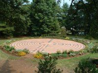 Chartres model labyrinth at Millbrook Baptist Church, Raleigh NC (walked this one many times).