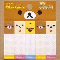 Rilakkuma bear Post-it bookmark sticker faces