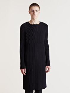 Yang Li Men's Long Knitted Top