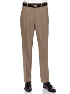 42W x 29L Heather Grey Arrow Mens Pleated Micro Pant