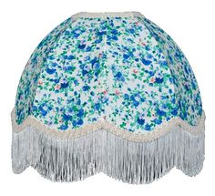 Blue Floral Dome Fab