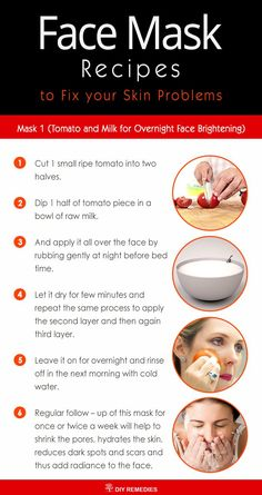 Tomato and Milk for Overnight Face Brightening Tomato has natural bleaching and skin whitening properties that brighten up the skin tone. It is rich in vitamin C and has astringent and antioxidant properties which help to clear oily or black skin along w Homemade Lip Balm, Homemade Skin Care, Natural Skin Whitening, Natural Skin Care, Whitening Face, Natural Glow, Face Brightening, Beauty Tips For Glowing Skin, Beauty Skin