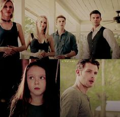 Hope reuniting with her family. Just look at their faces, especially Klaus's....so excited yet so nervous to meet this beautiful girl.
