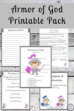 This Armor of God Printable Pack is a great way to learn about the different parts of armor that we should put on daily. Verses For Kids, Bible Stories For Kids, Bible Study For Kids, Bible Lessons For Kids, Kids Bible, Sunday School Kids, Sunday School Activities, Bible Activities, Sunday School Lessons