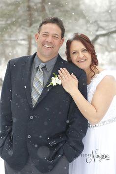 Beautiful snow falling wedding at Elope Niagara Snow Wedding, Winter Wonderland Wedding, Chapel Wedding, Christmas Wedding, Fall Wedding, Christmas Themes, Romantic, Weddings, Wedding Dresses