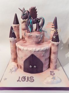 Princess Luna Castle cake. My Little Pony