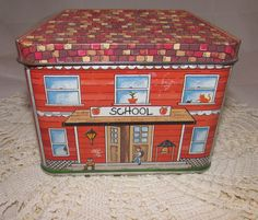 Vintage Tin School House Classroom 80s Promotional by PuppyLuckArt