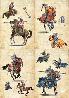 Középkori magyar katonai egységek - nehézlovasság
