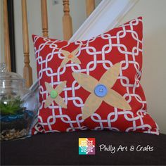 Throw Pillow Cover Chain Link Design Pillow Cushion Cover Decorative Pillow Cover - Choose your Size and Fabric