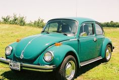 '74 VW Super Beetle. Neat car. It ended up getting primered dark gray after I loaned it to an employee for several months. That was...complicated. Still a solid runner. Not too hot cosmetically.