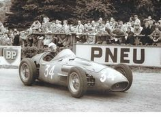 1956 Belgian GP, Spa : Stirling Moss, Maserati 250F #34, Officine Alfieri Maserati, 3rd. (ph: sportcardigest.com)