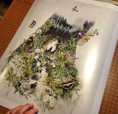 Always extra excited and thankful when someone buys my #original #contemporaryart #originalart #conceptart #conceptual #art #design #graphicdesign #illustration #digitalart #photoshop #painting #digitalpainting #graphics #butterflies #butterfly #garden #cat #surreal #surrealism #artwork #etsy #indie #fantasyart