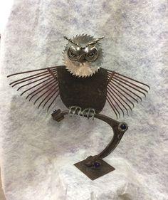 Scrap metal owl