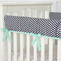 Eclectic Mint Crib Rail Cover
