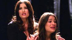 """Idina Menzel and Lea Michele on """"Glee."""""""