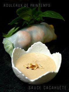 Sauce cacahuète pour rouleaux de printemps