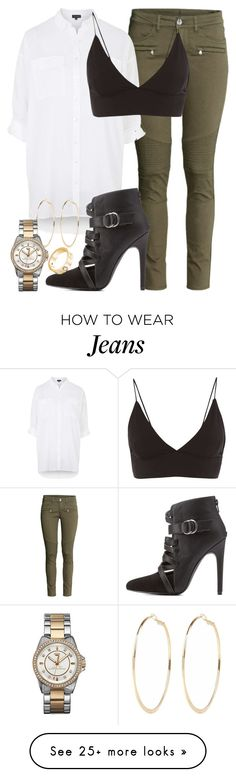 """""""biker jeans - leigh insp"""" by littlemixmakeup on Polyvore featuring H&M, Topshop, Charlotte Russe, River Island and Juicy Couture"""