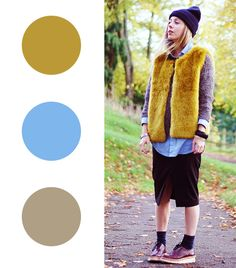 Daniella Robbins of Lella Victoria Citron + Baby Blue + Oatmeal FAIL-PROOF COLOR COMBOS TO TRY FOR WINTER