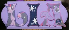 My Little Pony Twilight Sparkle name plaque - Customizable! All themes and My Little Pony characters welcome. on Etsy, $100.00
