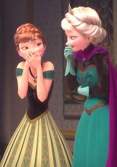 Disney Frozen Anna and Elsa Frozen Disney, Princesa Disney Frozen, Frozen And Tangled, Film Disney, Frozen Movie, Elsa Frozen, Disney Magic, Frozen Wallpaper, Disney Wallpaper