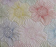free motion quilting with very thick thread/My New Wholecloth Quilt /Geta's Quilting Studio