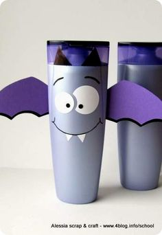Lavoretti: Pipistrelli di Halloween con flaconi di shampoo    Halloween Bat!