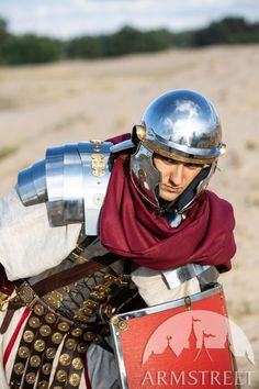 A mix between an Imperial Gallic Helmet and a Coolus, this stainless steel Roman helmet looks gorgeous and can be shipped worldwide. Available in: stainless, mirror polishing, satin polishing Soldier Helmet, Roman Helmet, Roman Armor, Ancient Armor, Medieval Helmets, Roman Legion, Roman Empire, Looking Gorgeous, Rome