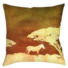 Safari Sunrise 3 Printed Throw Pillow