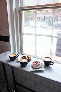 Tatte Bakery in Boston with pastries and lattes