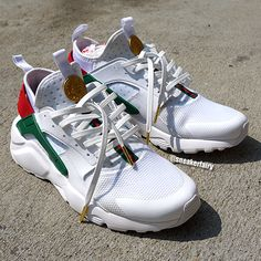 sneaker fairy fetti dbiasi custom sneakers shoes nike huarache gucci gold coin snake ghost white kicks leather laces