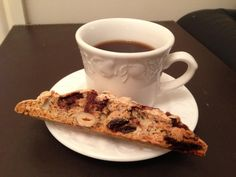 Sour Cherry, Hazelnut and Chocolate Biscotti.  from the first ever winner of GBBO!