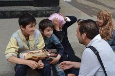#كي_لا_ننسى #بشار المجرم، جعلني ! من طالب للعلم ... إلى بائع بسكويت ثم، جسد بلا روح... Bashar offender, It made me From seeker of knowledge ... To Vendor biscuits Then, body without a soul... ... هناك، في #سوريا، مئات الآلاف من الأطفال، قصصهم تشبه قصة بائع البسكويت. There, in #Syria, hundreds of thousands of children's stories resemble the story of a seller biscuits