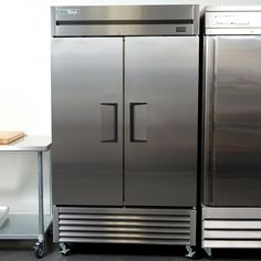 """True TS-43-HC 47"""" Two Section Solid Door Reach-In Refrigerator"""